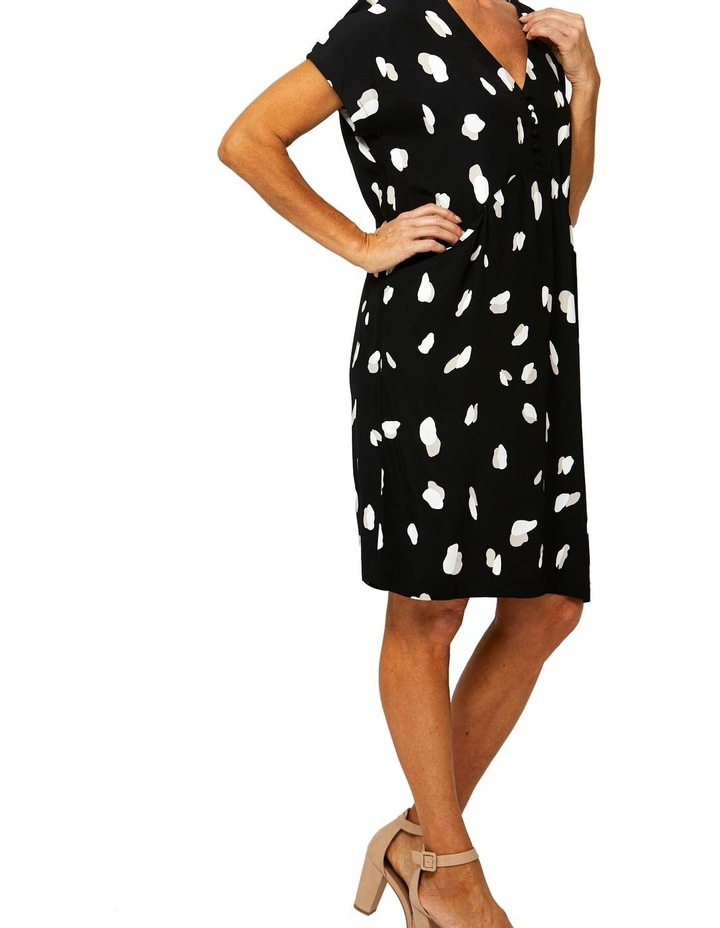 Drop Shoulder Mono Print Dress image 2