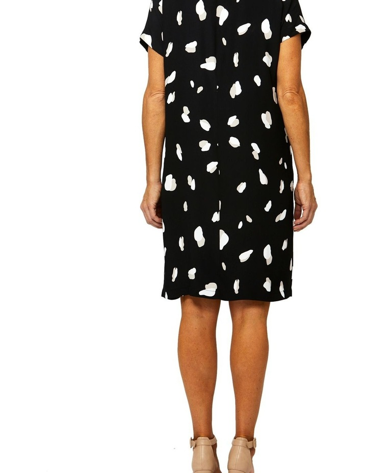 Drop Shoulder Mono Print Dress image 3