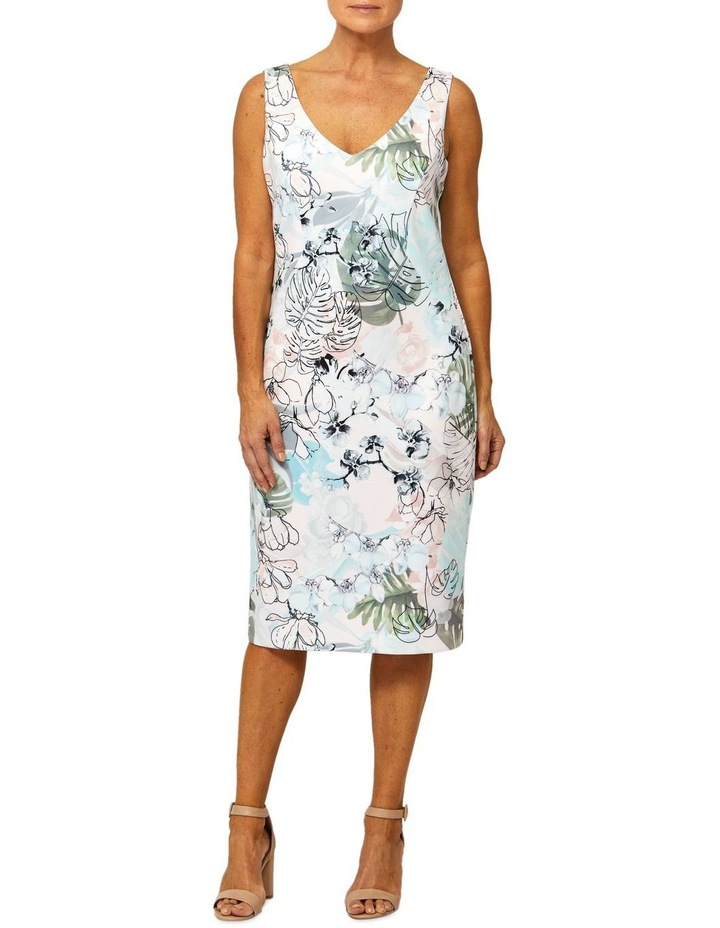 Sleeveless Jungle Print Dress image 1