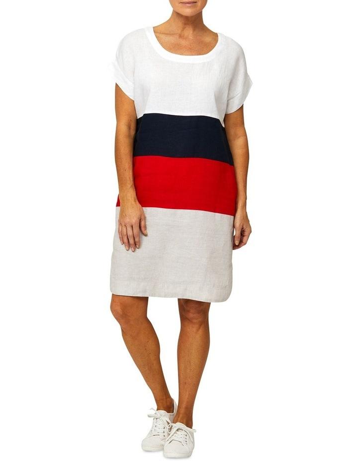 Drop Shoulder Linen Panel Dress image 1