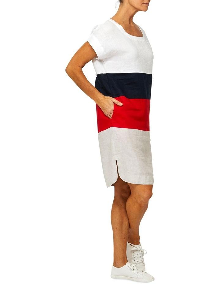 Drop Shoulder Linen Panel Dress image 2