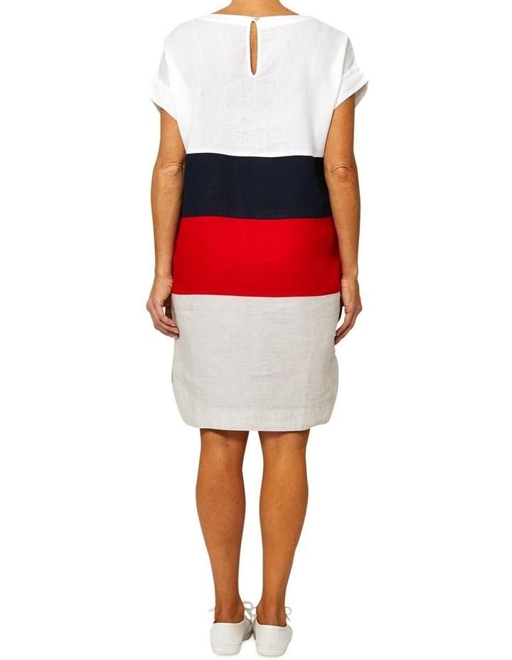 Drop Shoulder Linen Panel Dress image 3
