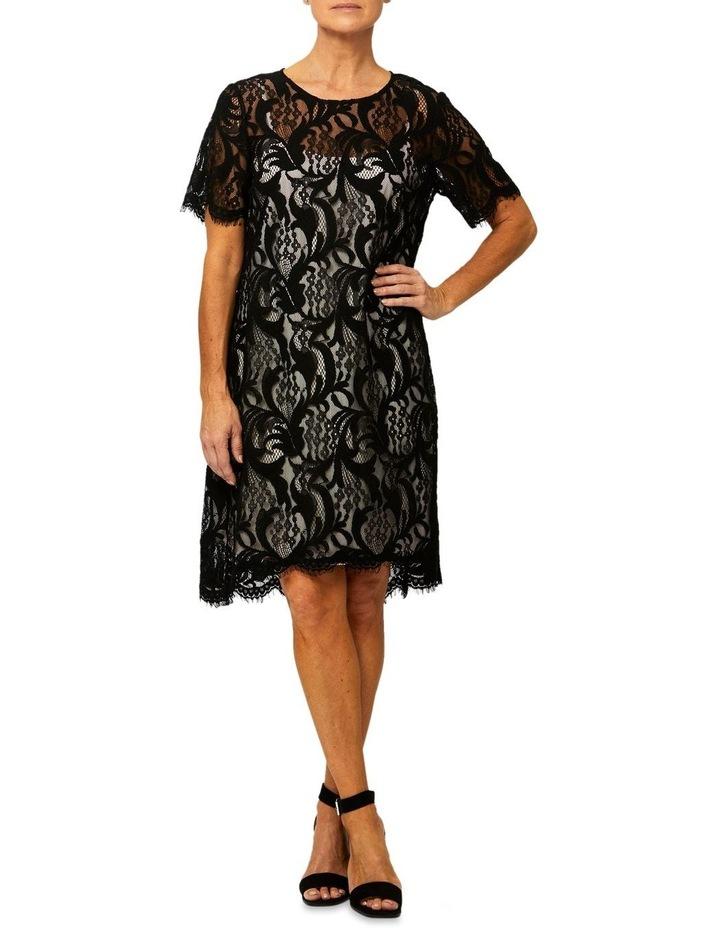 Short Sleeve Lace Shift Dress image 1