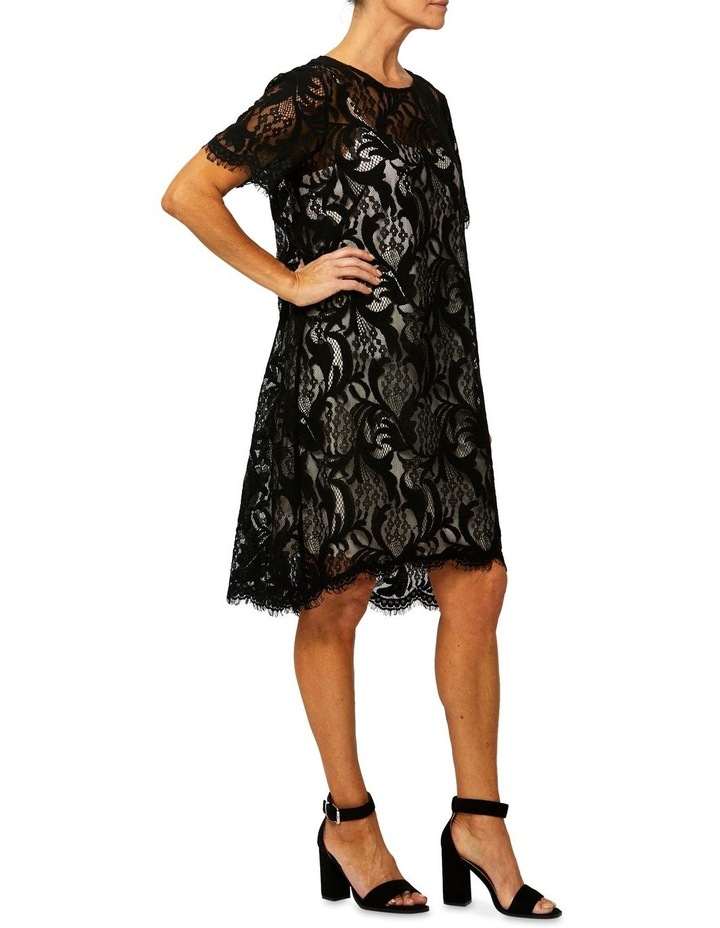 Short Sleeve Lace Shift Dress image 2