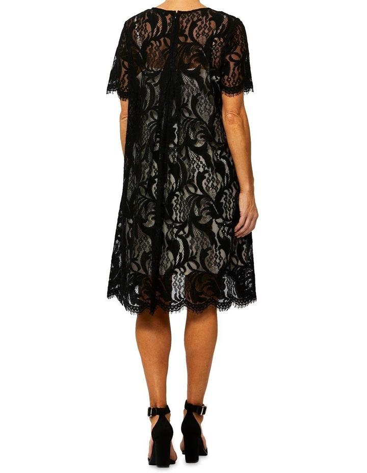 Short Sleeve Lace Shift Dress image 3