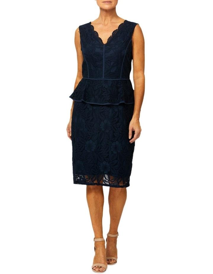 Sleeveless Lace Peplum Dress image 1