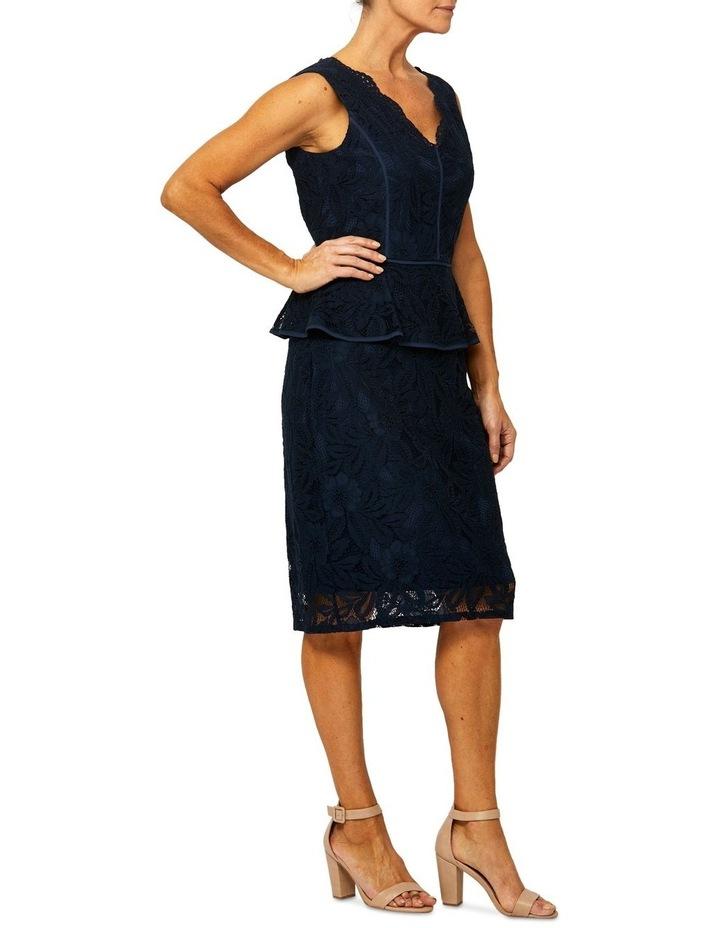 Sleeveless Lace Peplum Dress image 2