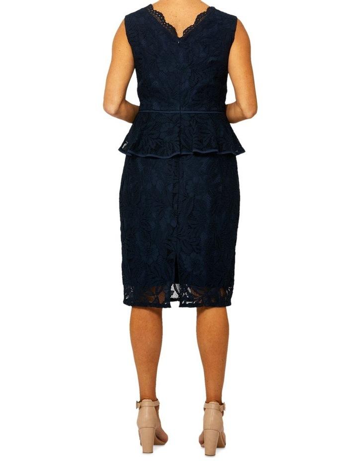 Sleeveless Lace Peplum Dress image 3