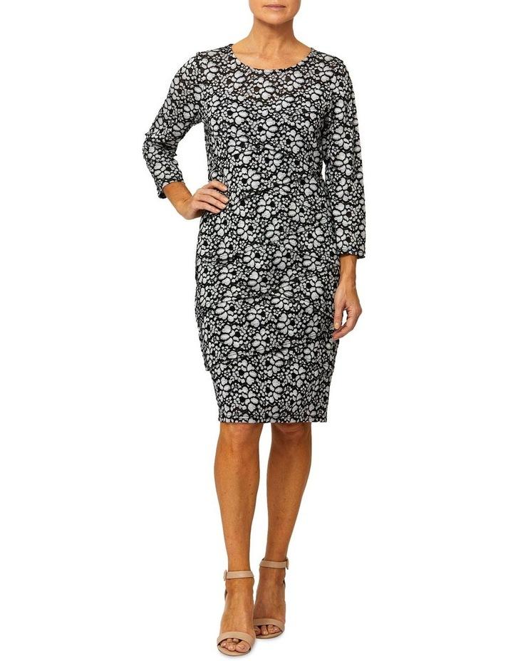 3/4 Sleeve Bandage Lace Dress image 1