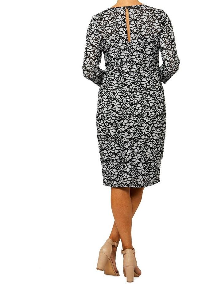3/4 Sleeve Bandage Lace Dress image 3