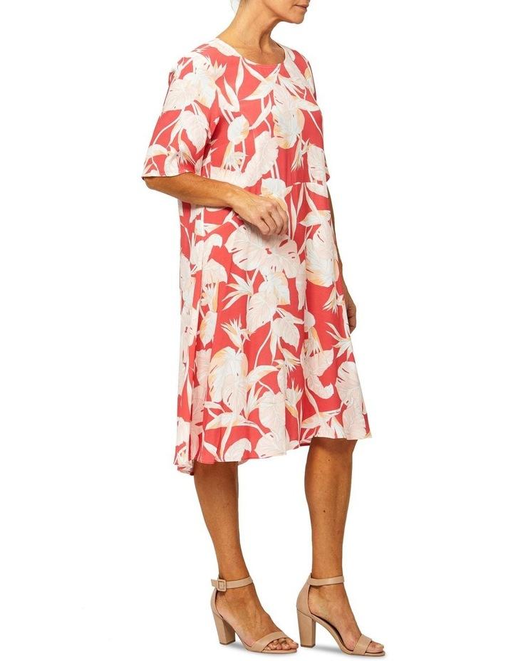Short Sleeve Paradise Print Dress image 2
