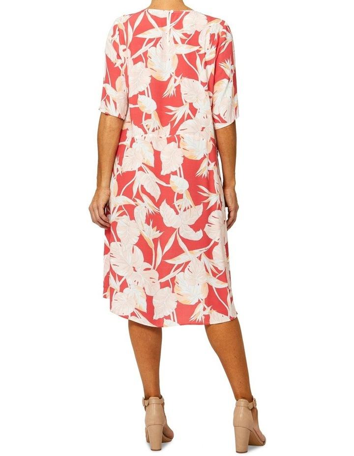 Short Sleeve Paradise Print Dress image 3