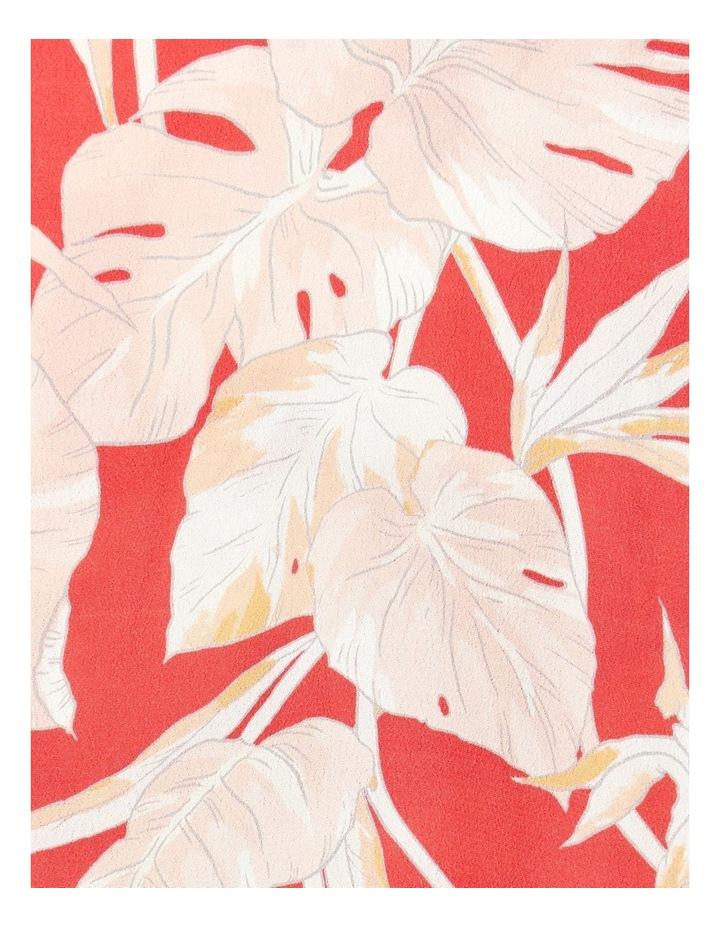Short Sleeve Paradise Print Dress image 4