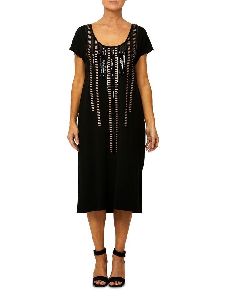Geo Sequin Shift Dress image 1