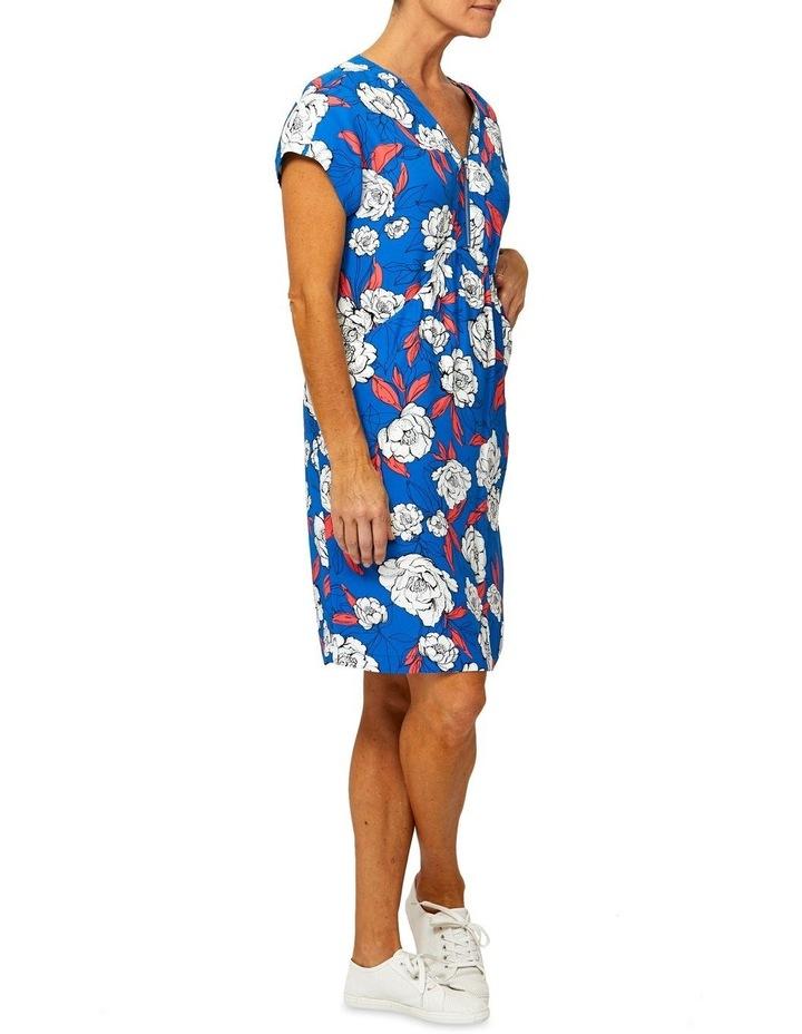 Short Sleeve Summer Print Dress image 2