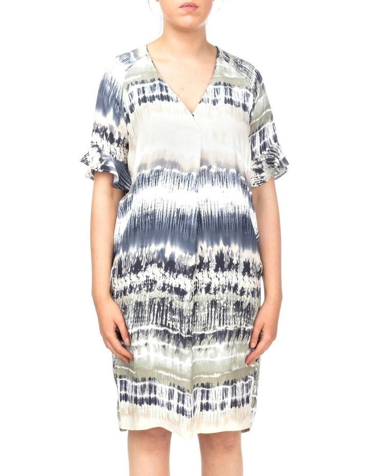Short Sleeve Tie Dye Print Dress image 1