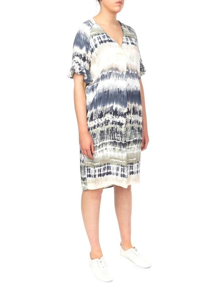 Short Sleeve Tie Dye Print Dress image 2