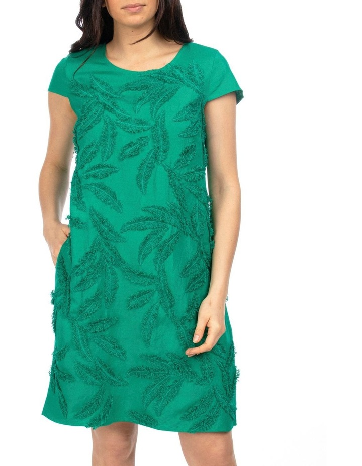 Cap Sleeve Embroidered Dress image 1