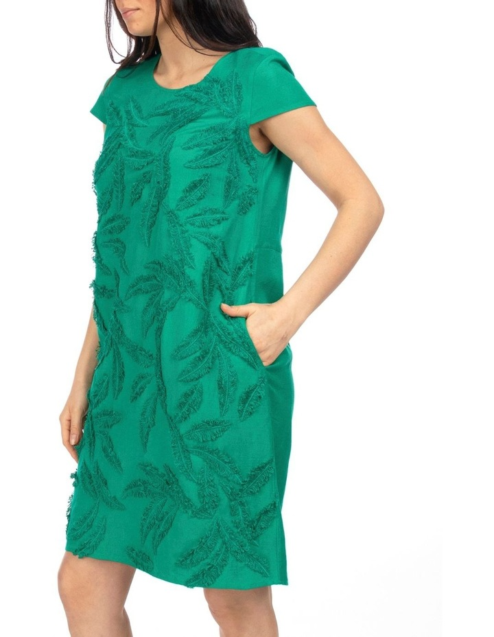 Cap Sleeve Embroidered Dress image 2