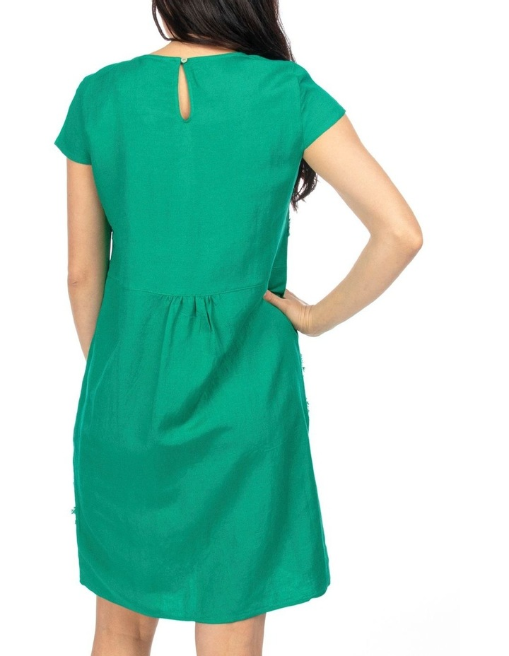 Cap Sleeve Embroidered Dress image 3