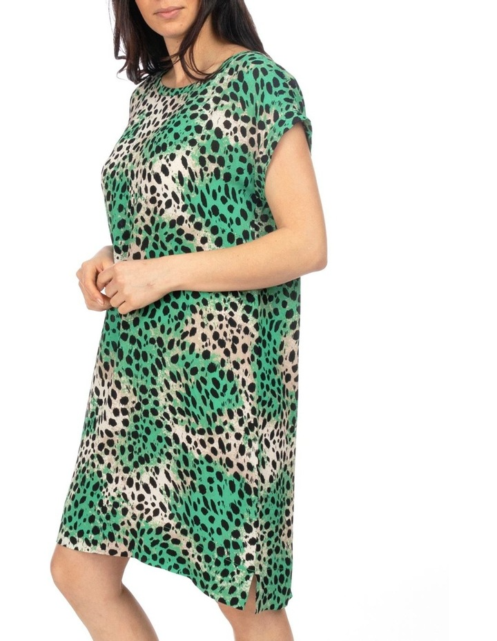 Drop Shoulder Capri Print Dress image 2