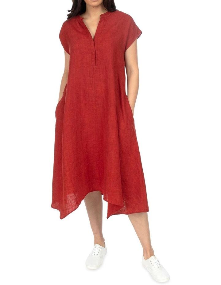 Drop Shoulder Long Linen Dress image 1