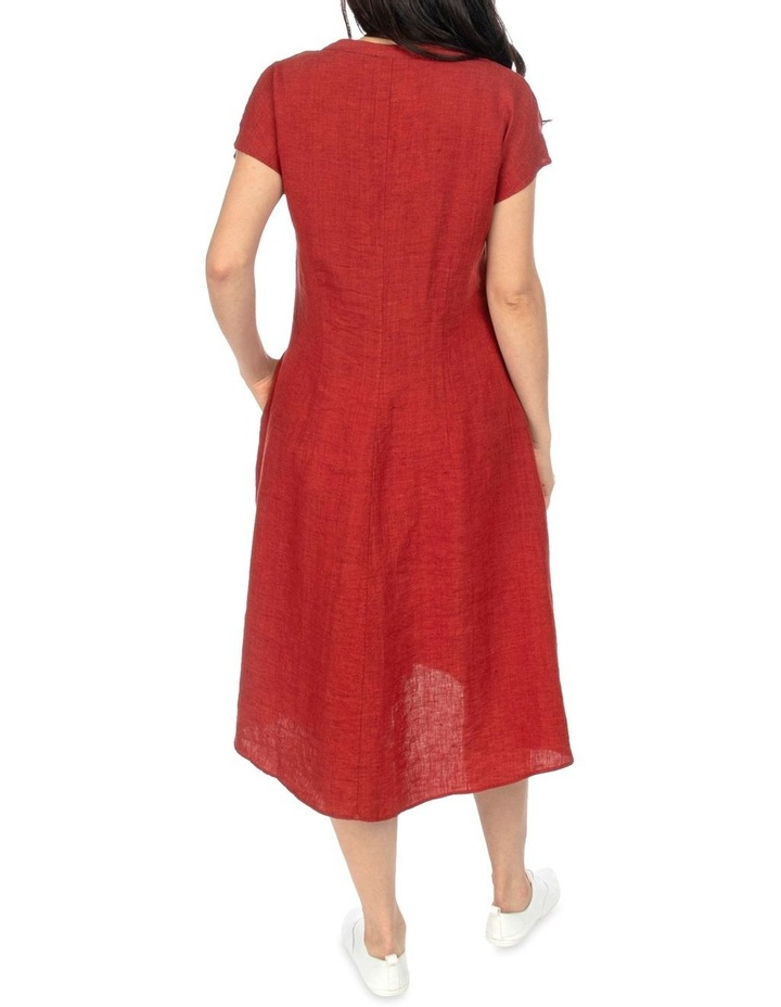 Drop Shoulder Long Linen Dress image 3