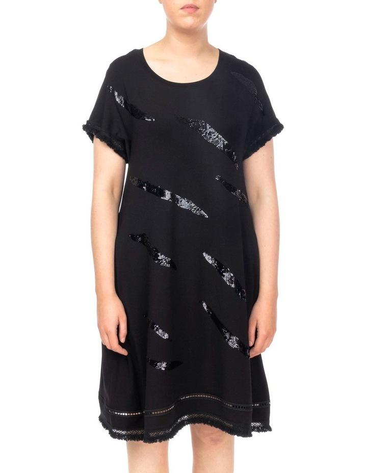 Zebra Sequin Shift Dress image 1