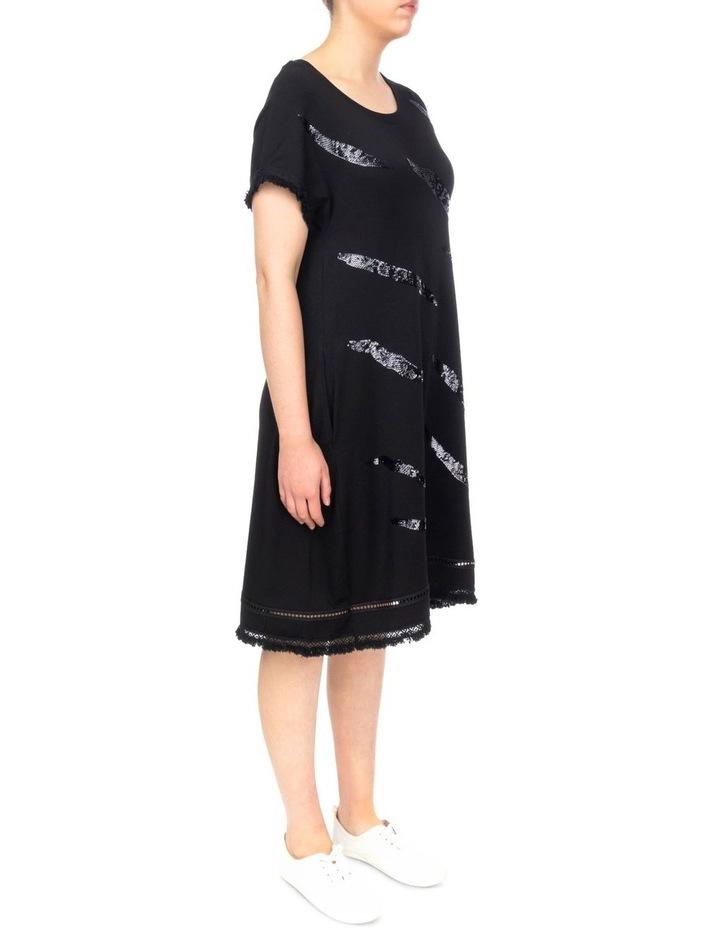 Zebra Sequin Shift Dress image 2
