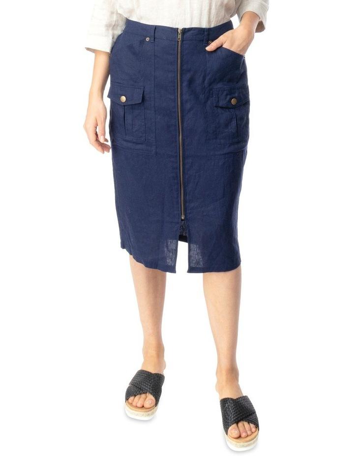 Linen Utility Skirt image 1