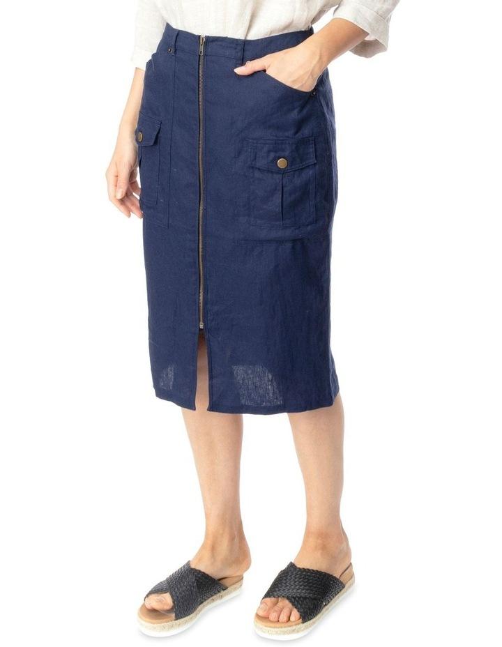 Linen Utility Skirt image 2