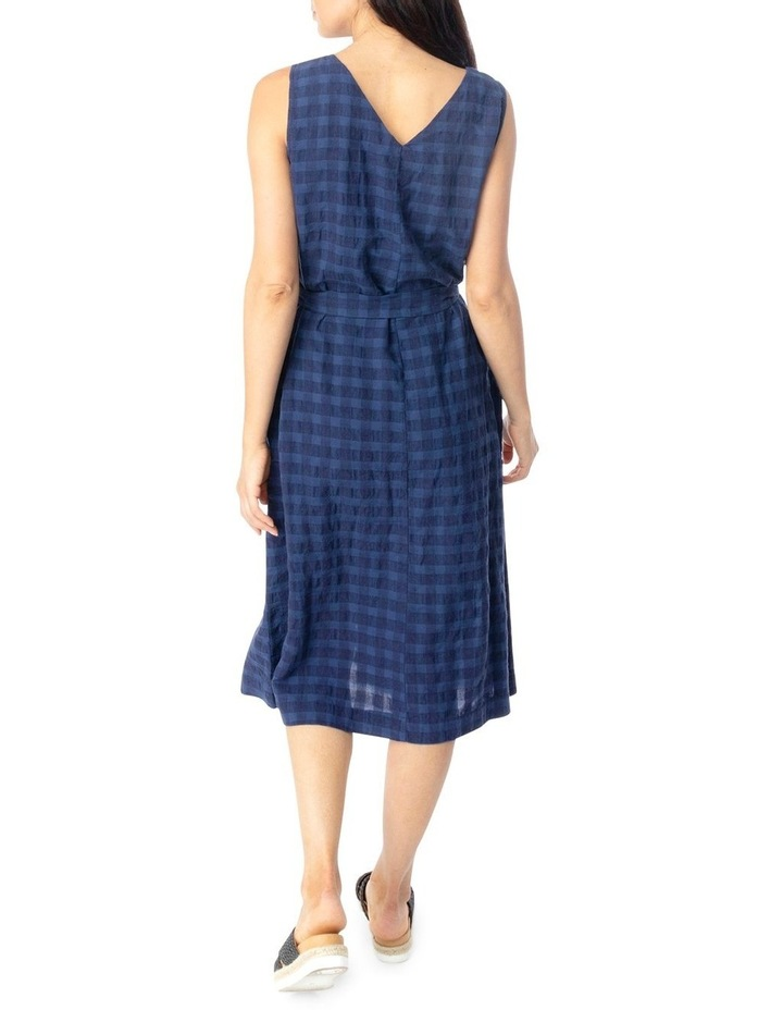 Slv Frill Front Linen Textured Dress image 3