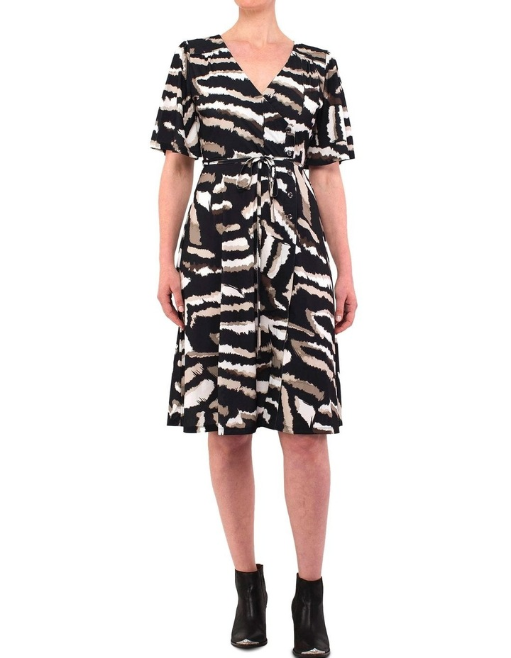 Elbow Sleeve Tribal Print Dress image 1