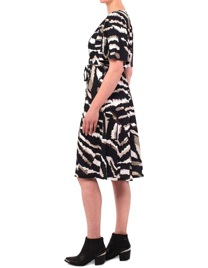 Elbow Sleeve Tribal Print Dress image 2