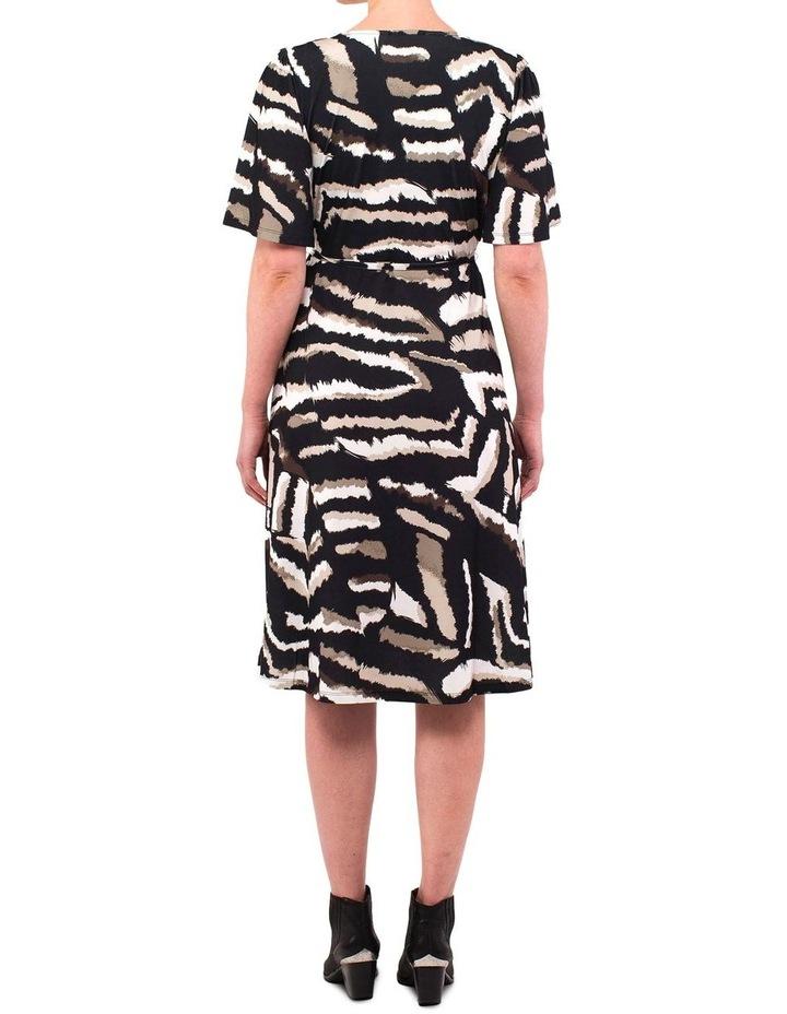 Elbow Sleeve Tribal Print Dress image 3