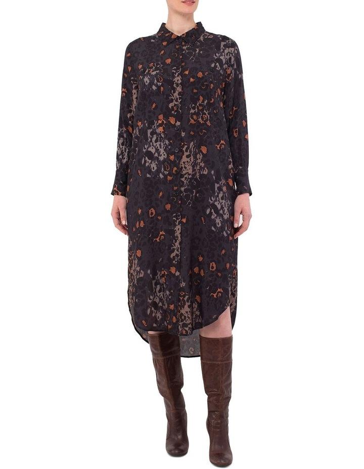 Phantom Print Shirt Dress image 1