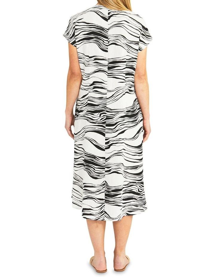 Flax/Black Wave Print Midi Dress image 2