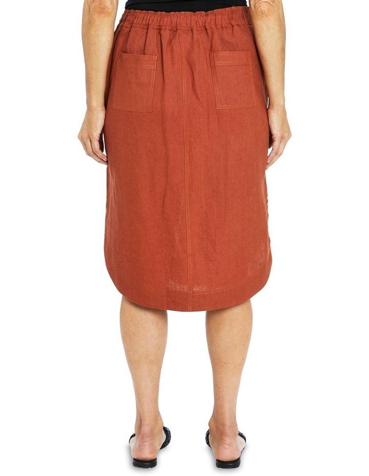 Curved Hem Linen Skirt image 2