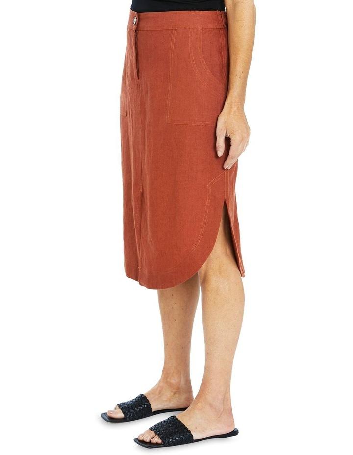 Curved Hem Linen Skirt image 3