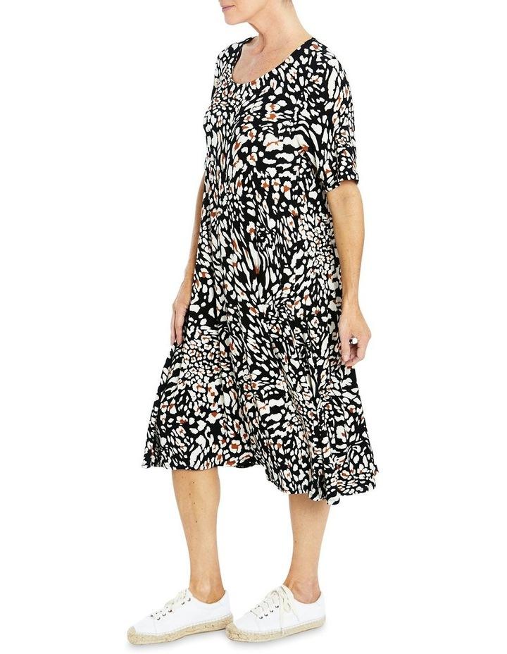 Short Sleeve Abstract Animal Print Dress image 3