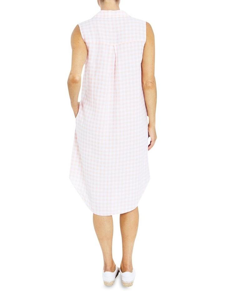 Sleeveless Gingham Shirt Dress image 2