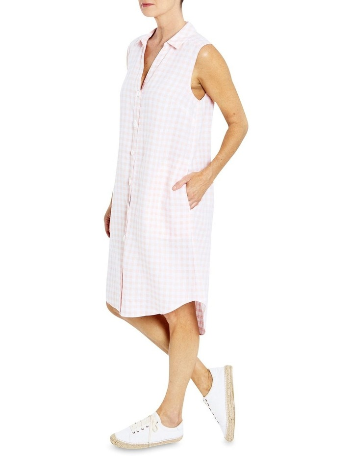 Sleeveless Gingham Shirt Dress image 3