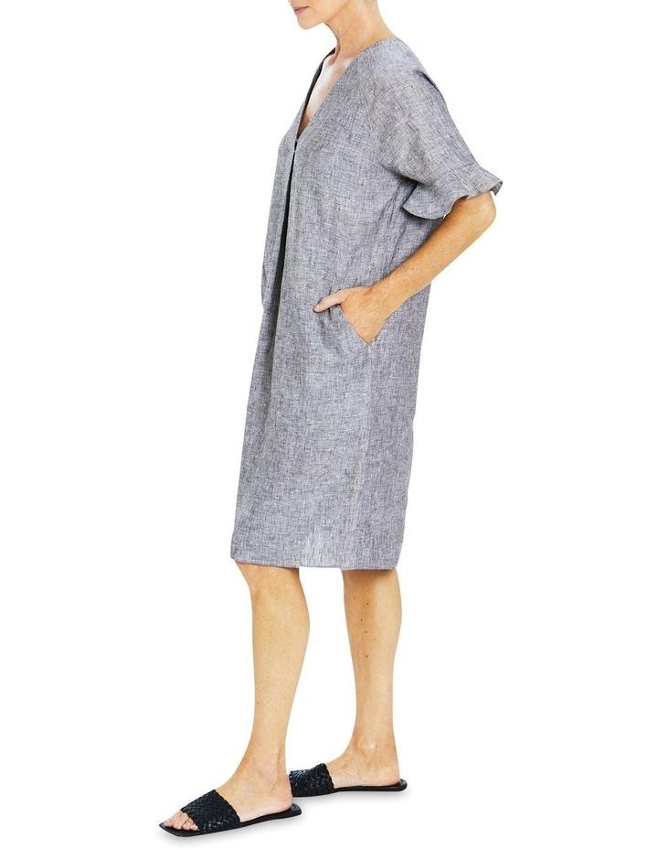 Short Sleeve Linen Dress image 3