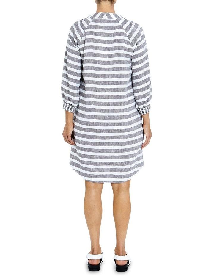 Stripe Linen Lace Up Dress image 2