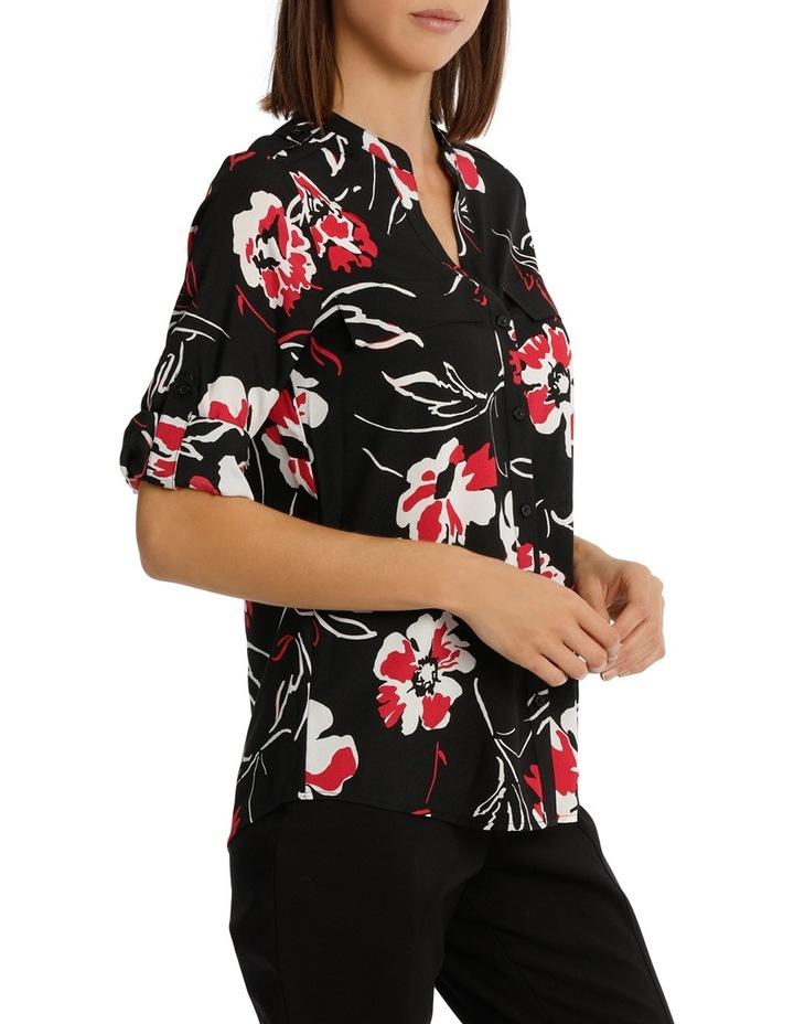 Printed Roll Sleeve Shirt image 2