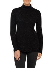 Calvin Klein White - Sweaters Long Slv Trlenk W Fleck Detal