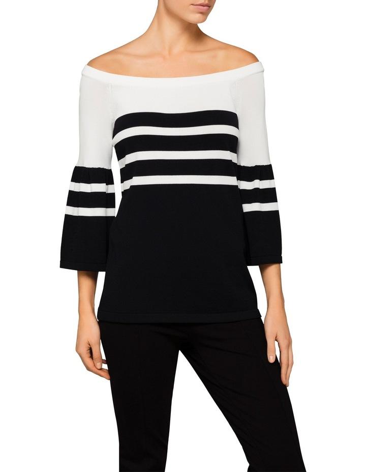 Off Shoulder Bell Sleeve Sweater image 1