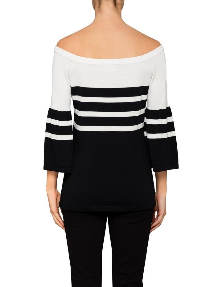 Off Shoulder Bell Sleeve Sweater image 2