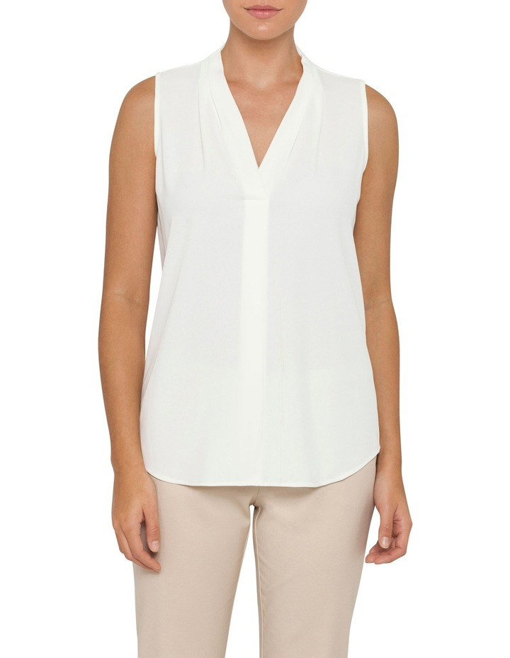 Mod Essentials Sleeveless Blouse with Inverted Pleat image 1
