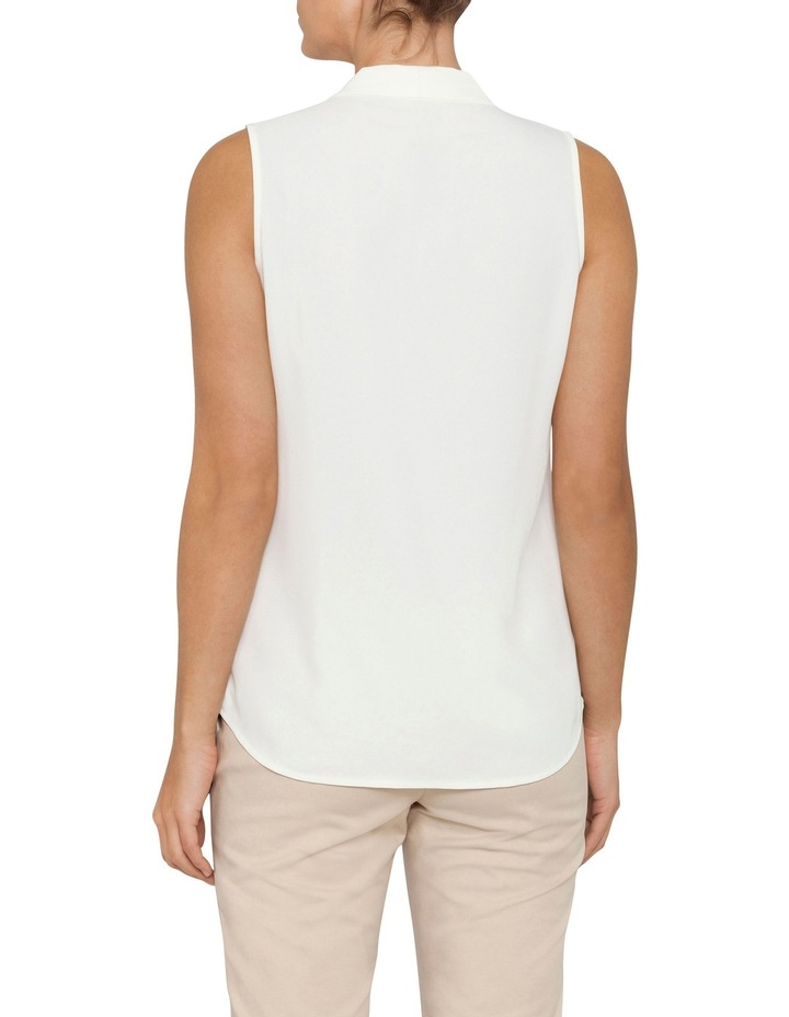 Mod Essentials Sleeveless Blouse with Inverted Pleat image 2
